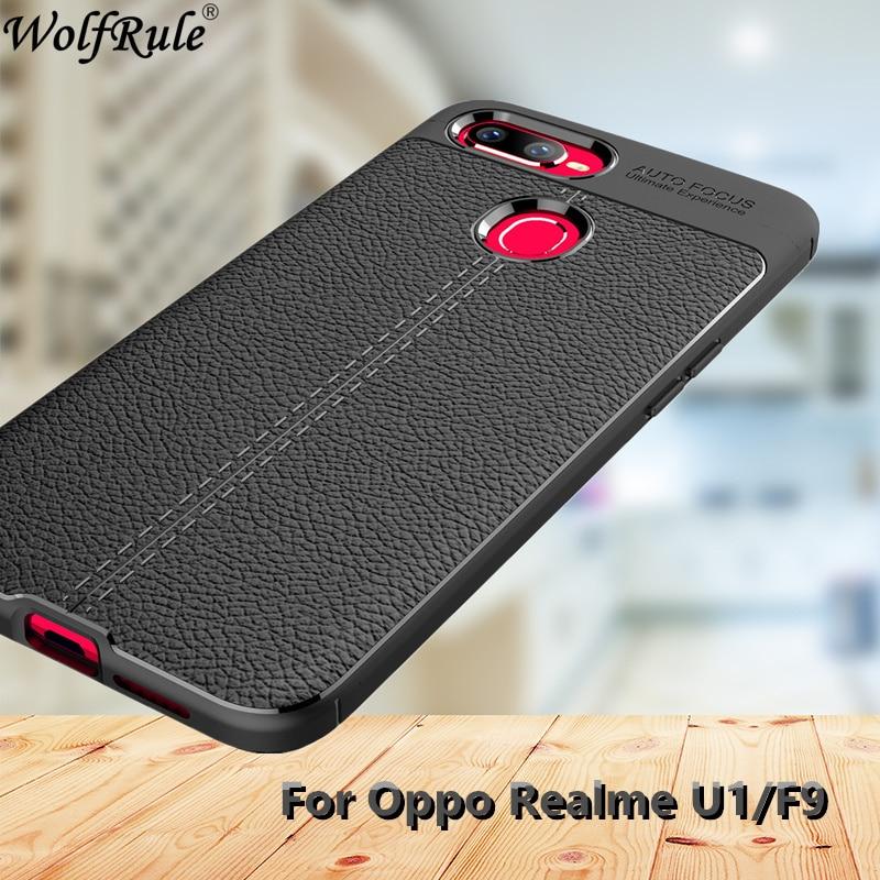Case Oppo Realme U1 Case Fashion Lichee Style Rugged Hybrid Case For Oppo Realme U1 Cover Silicone TPU Shell For Oppo F9 6.3inch