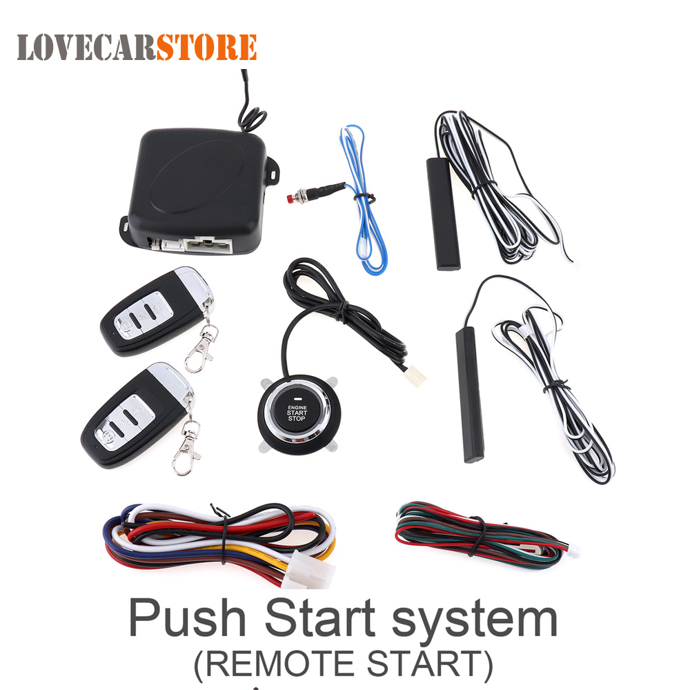 Universal 12V Smart Auto Car Alarm Engine Starline Push Button Start Stop RFID Lock Ignition Switch Keyless Entry System Starter universal pke car security alarm system with remote engine starter start stop push button passive keyless entry starline
