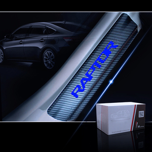 Image 5 - ประตูสำหรับFord RAPTOR F 150 คาร์บอนไฟเบอร์ไวนิลสติกเกอร์รถประตูยินดีต้อนรับสติ๊กเกอร์อุปกรณ์เสริม 4pcs