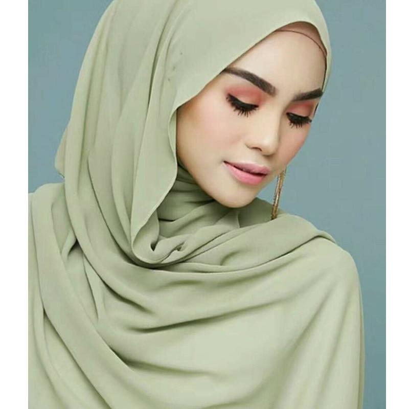 733af0e4fe0 Pleated Women Wrinkle Bubble Chiffon Hijab Scarf Shawls Crinkle ...