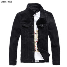 Male Brand Fashion Denim Jacket Coat With Pockets Motorcycle Denim Jacket Jeans Windbreaker Black White Red Army Green 3XL 4XL