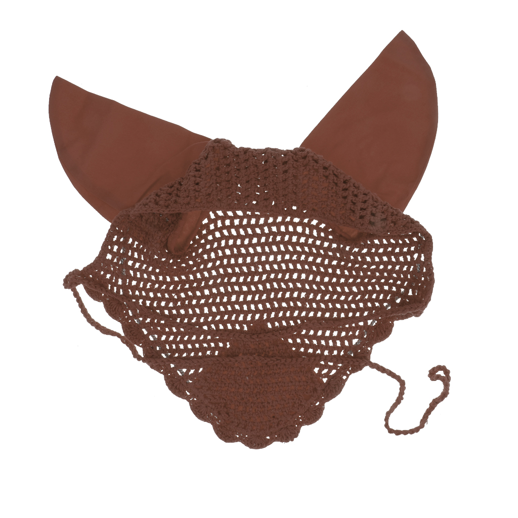 Lightweight Crochet Cotton Rhinestone Horse Ear Net Mask Anti-fly Bonnet Veils for Outdoor Sports Riding Equipment Tools 1