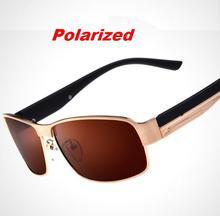L33 Aleación gafas de Sol Polarizadas de Los Hombres Clásicos Masculinos Gafas de Sol de Conducción Gafas Hombres Gafas de Sol Gafas bolsa de Tela +