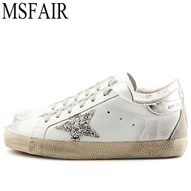 MSFAIR Men Skateboarding Shoes Sport Shoes For Men Sport Shoes For Women Man Brand Genuine Leather Flat With Womens Sneakers
