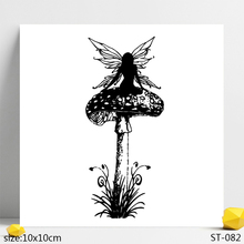 AZSG Fungi Mushroom Fairy Angel Clear Stamps/Seals For DIY Scrapbooking/Card Making/Album Decorative Silicone Stamp Crafts
