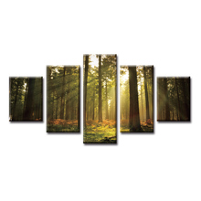 цена на 5 Pieces Large Canvas Painting Pictures Southeast Asia Poster Series Wall Pictures for Living Room Print Paintings Home Decor