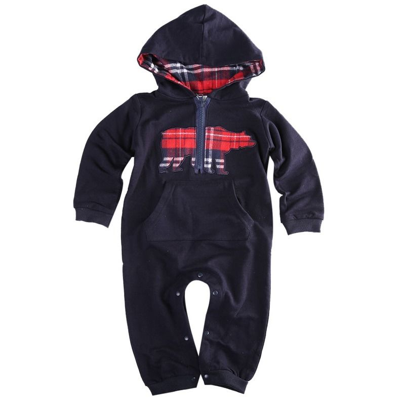 Long Sleeve Winter Clothes Hooded Warm Suit Outwear Outfits Newborn Baby Boys Clothes Rompers Cotton  3 6 12 Monthes Infant Boy 0 3y baby boys girls infants clothes long sleeve rompers outfits newborn infant kids winter clothing jumpsuits baby outwear