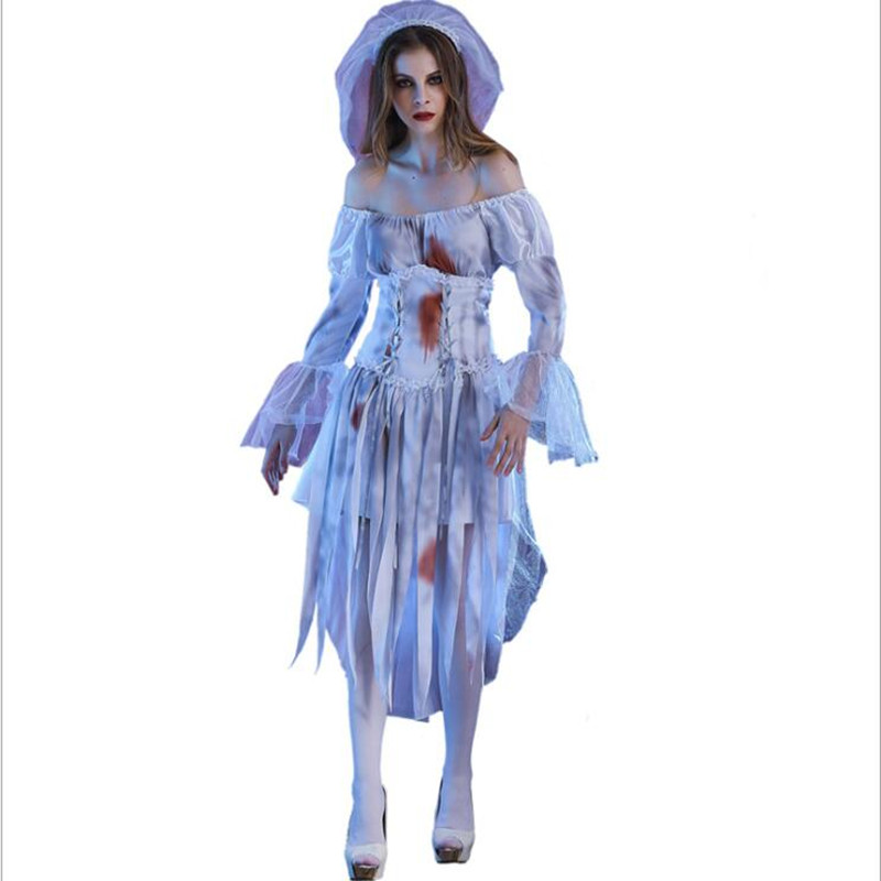 New Arrival Womens Ghost Bride Costume Halloween Party Cosplay