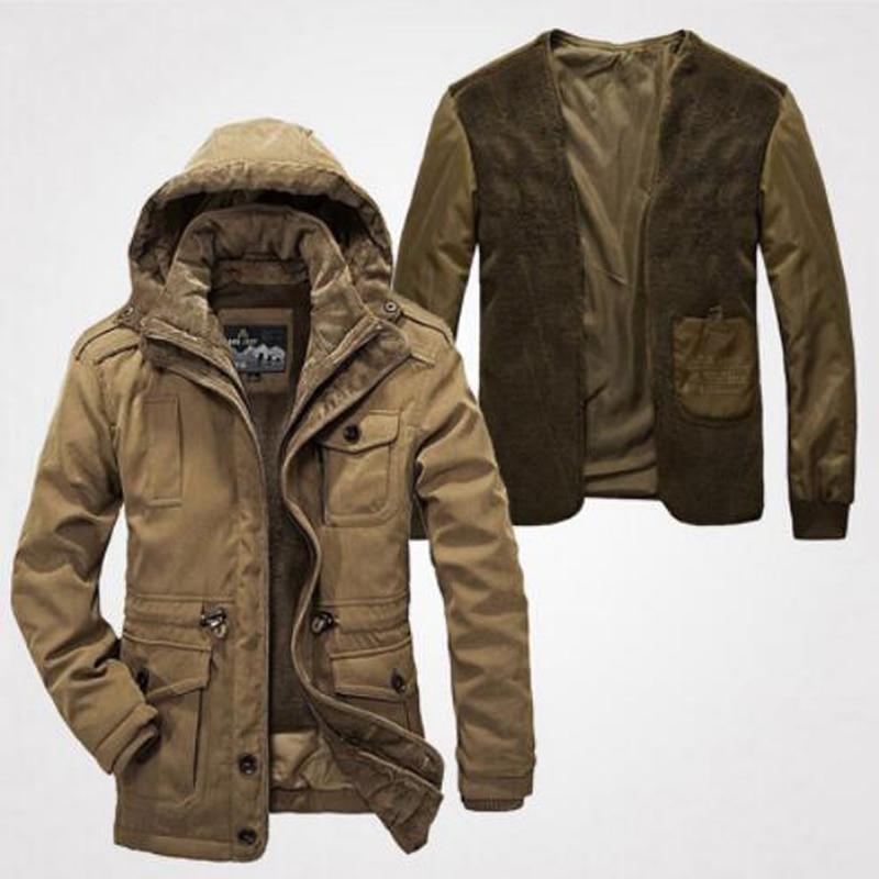 2018 Autumn Winter Wadded Jackets Thickening Warm Parka Men Jacket Coat Hooded Male jacket Windbreaker Overcoat цена