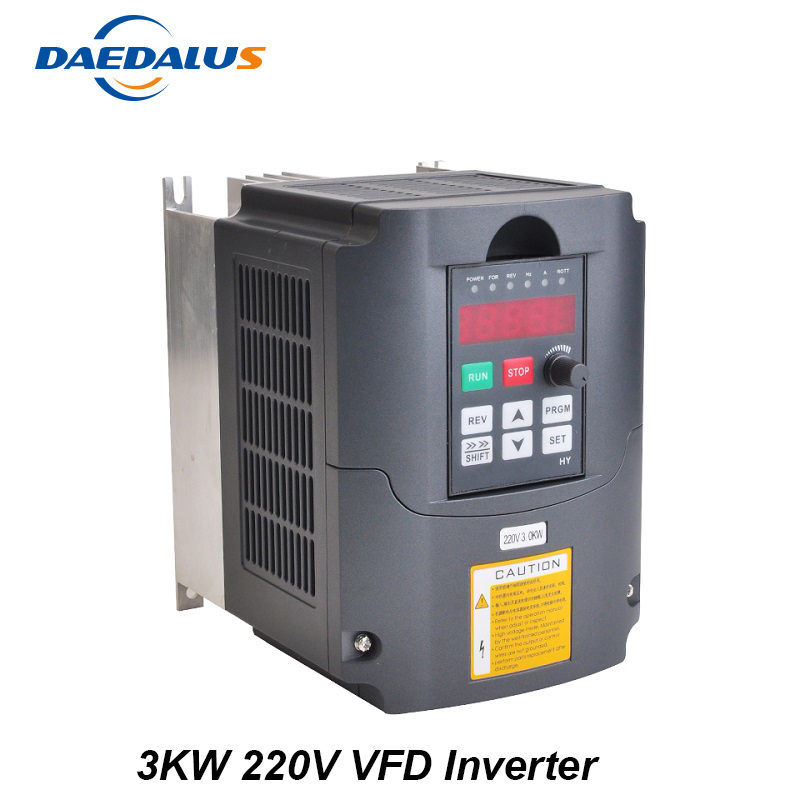 цена на 3KW 220V Variable Frequency Drive AC 220V VFD Inverter Converter Controller For Spindle 3KW Motor Milling Tools