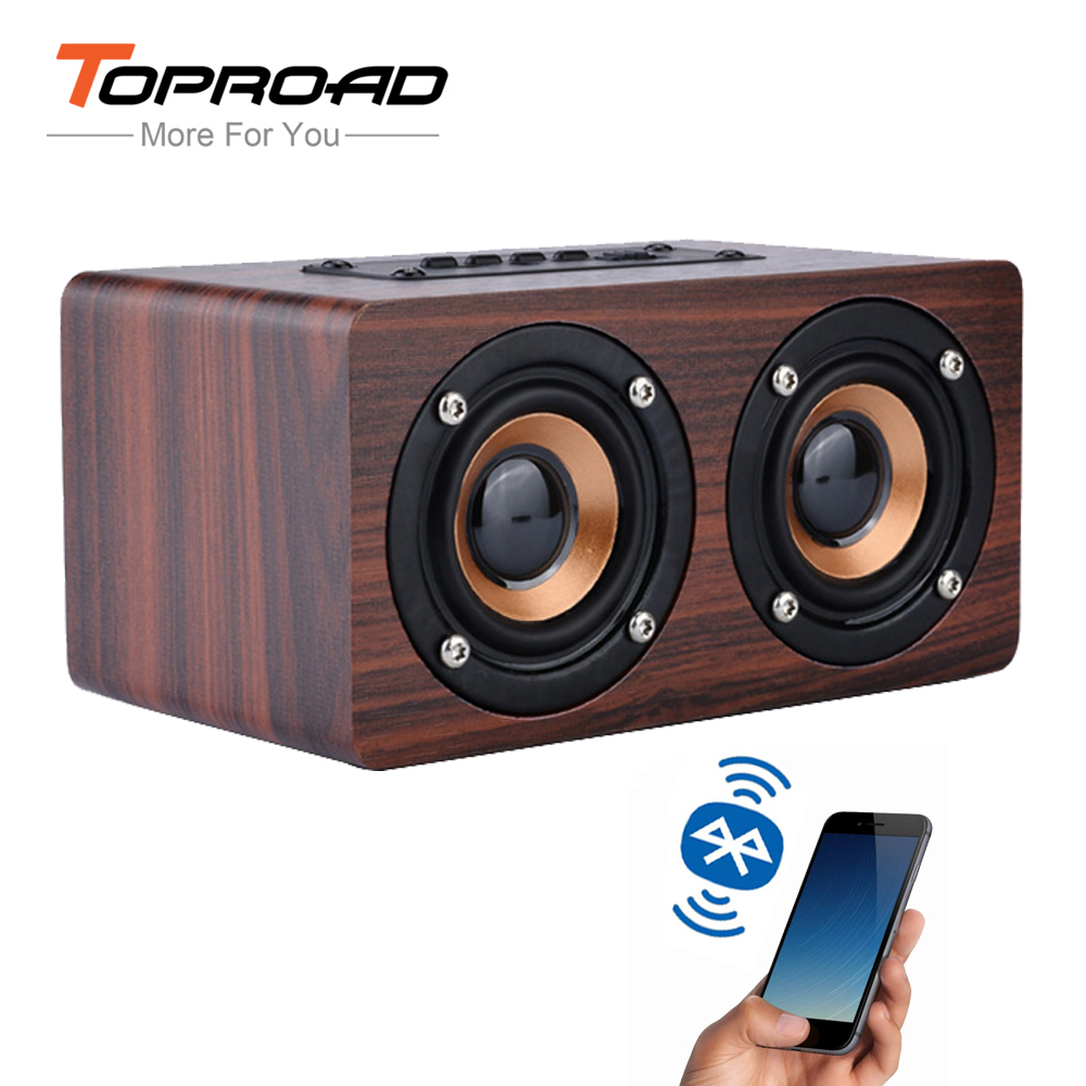 TOPROAD Wooden Wireless Bluetooth Speaker for iPhone Sumsung