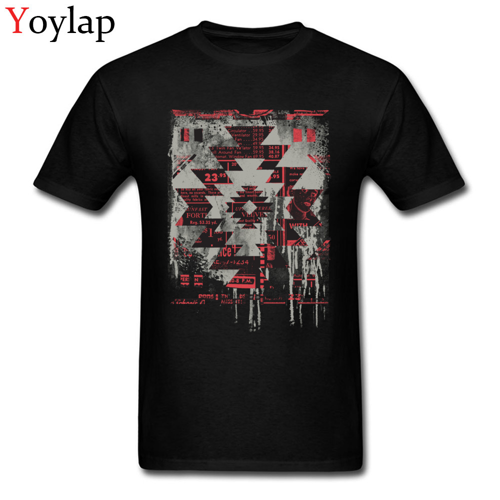 Aztec Modern Geometric Pattern Design Men Tee Shirts Street Fashion Tops T-Shirt For Male Fitted Cotton Clothes