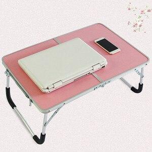 Image 5 - Faltbare Computer Tisch Tragbare Laptop Schreibtisch Drehen Laptop Bett Tisch kann Angehoben Stehenden Schreibtisch Tragbare Home Möbel