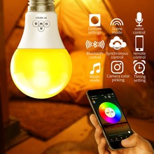 new e27 rgbw led lamp wifi smart light bulb 7w dimmable multicolor wake up lights compatible with alexa and google assistant Timethinker WiFi Smart Bulb Light Dimmable Multicolor RGBW LED Lamp Compatible with Alexa Google Assistant Wake-Up Lights