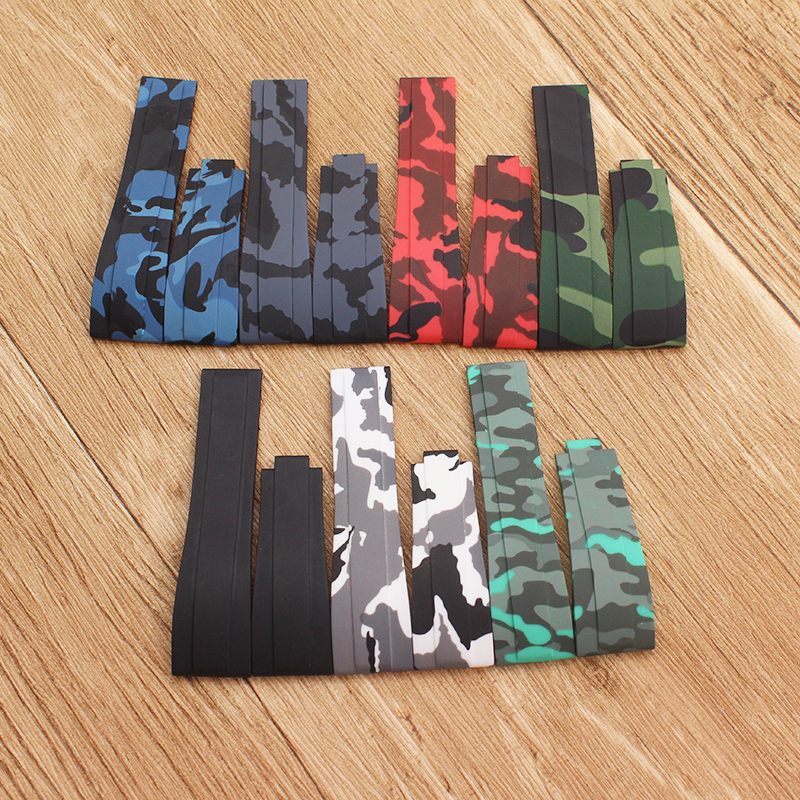 Watch Accessories Camo  Nature Silicone Rubber Watchband Watch Band For Role Strap Daytona Submariner GMT OYSTERFLEX Bracelet