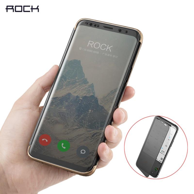 Pour Samsung Galaxy S9 S9 Plus Cas Rock Dr. v Série Smart Flip Étui de protection pour Galaxy S9 S9 + avec Plein Écran Fenêtre vue