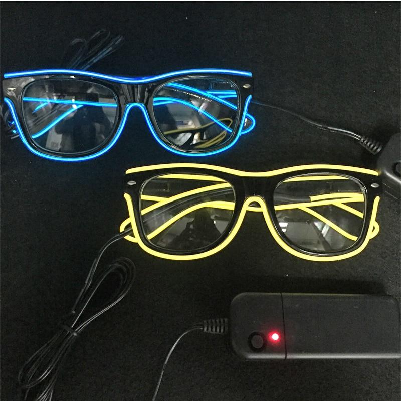 깜박이 엘 LED 안경 의상 파티 마스크 3 모드 빛나는 안경 할로윈 크리스마스 축제 장식