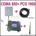 Dual band repetidor CDMA 800 Mhz Impulsionador + PCS 1900 dual band Repetidor PCS impulsionador kits w/10 M cable & antenas, antenas dual band CDMA reforço