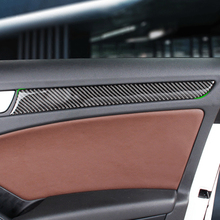 Car Carbon Fiber Window Door Panel Trim For Audi A4 B8 A5 2010 2011 2012 2013 2014 2015 2016