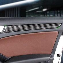 Embellecedor de Panel de puerta de ventana de fibra de carbono para coche, para Audi A4 B8 A5 2010 2011 2012 2013 2014 2015 2016