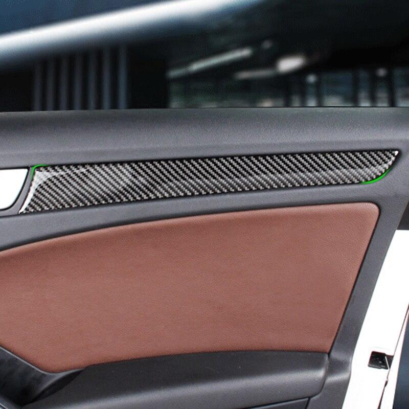 Fiber De Carbone De voiture Fenêtre Panneau De Porte Garniture Pour Audi A4 B8 A5 2010 2011 2012 2013 2014 2015 2016
