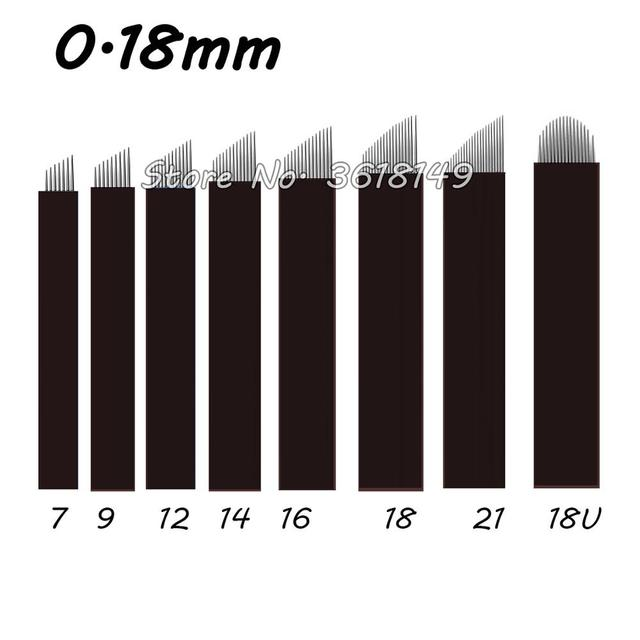 Thin 0.18mm Laminas Tebori Microblading Needles for Permanent Makeup Eyebrow Tattoo Needle Black Blades Microblade 3d Emboriery