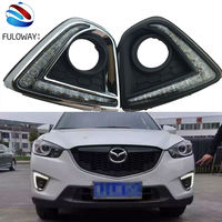 For Mazda Cx 5 Cx5 2012 2015 DRL Car Led Daytime Running Light Turn Signal And