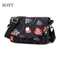 Soyt бренд 2018 новый цветочный дизайнер Crossbody Сумки Для женщин Маленький Нейлоновый Курьерские сумки женские Сумки на плечо клатч кошелек