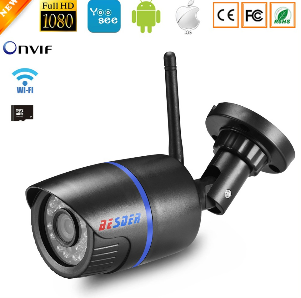 Yoosee IP Camera Wifi 1080P 960P 720P ONVIF Wireless Wired P2P CCTV Bullet Outdoor Camera With MiscroSD Card Slot Max 64G