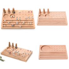 Rectangle Base Finger Ring oorbellen display Stand Jewellery Ring Wooden Studs Tray for Countertop Showcase Personal Organize vf6 commercial electric countertop chip warmer display showcase