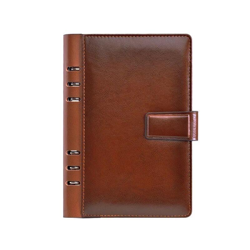 CAGIE Vintage cuero Notebook planificador divisores 2018 cuaderno espiral a5 Agenda Filofax a6 diario Personal Binder bolsillo diario