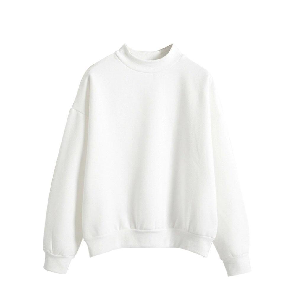 Women Casual Long Sleeve Hoodie Sweatshirt Jumper Pullover Thick Autumn Winter Tops AIC88