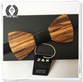 Novelty Solid Good Wooden Bow Tie For Men Classic Wood Bowties Neckwear Creative Handmade Butterfly leather ties