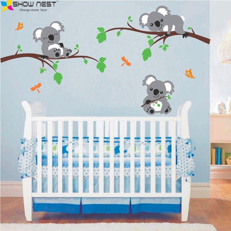 Koalab R Liegen Auf Die Zweige Wandtattoo Vinyl