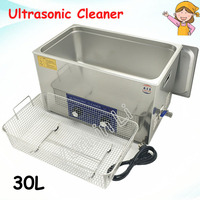 30L Jewelry Ultrasonic Cleaner 600W Stainless Steel Watches Cleaning Appliance with Mesh Basket PS 100