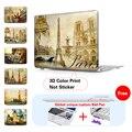Ретро Европейский Париж Карты Шаблон Печати Чехол Для Apple Macbook Pro Retina 12 15 Air 11 13 дюймов A1466 Для Mac Pro 13 A1278