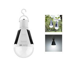 Night Lights Rechargeable Portable Waterproof Led Bulb LED Solar Lamp E27 7W AC85V-265V Camp lighitng