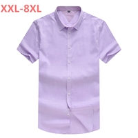 2018 NEW Spring And Summer New Large Size 8XL 7XL 6XL Men S Short Sleeved Shirt