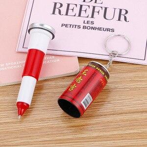 Image 4 - 36 pièces boîtes créatives de stylo à bille mignon étudiant porte clés télescopique canettes de boissons stylo à bille en gros