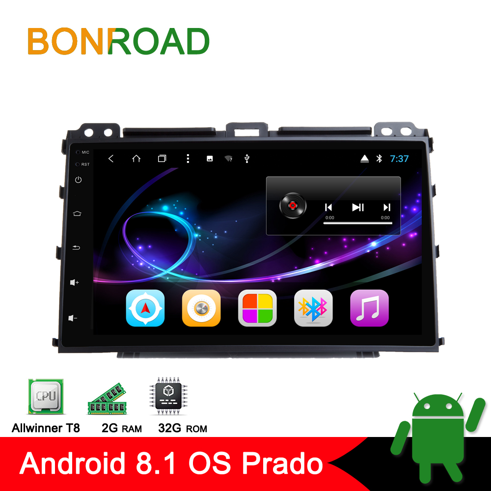 "Bonroad 9""2Din Car Radio Android 8.1.0 RAM2G For toyota Prado 120 Land Cruiser 120,2002-2009 GPS navigatio Audio bluetooth"