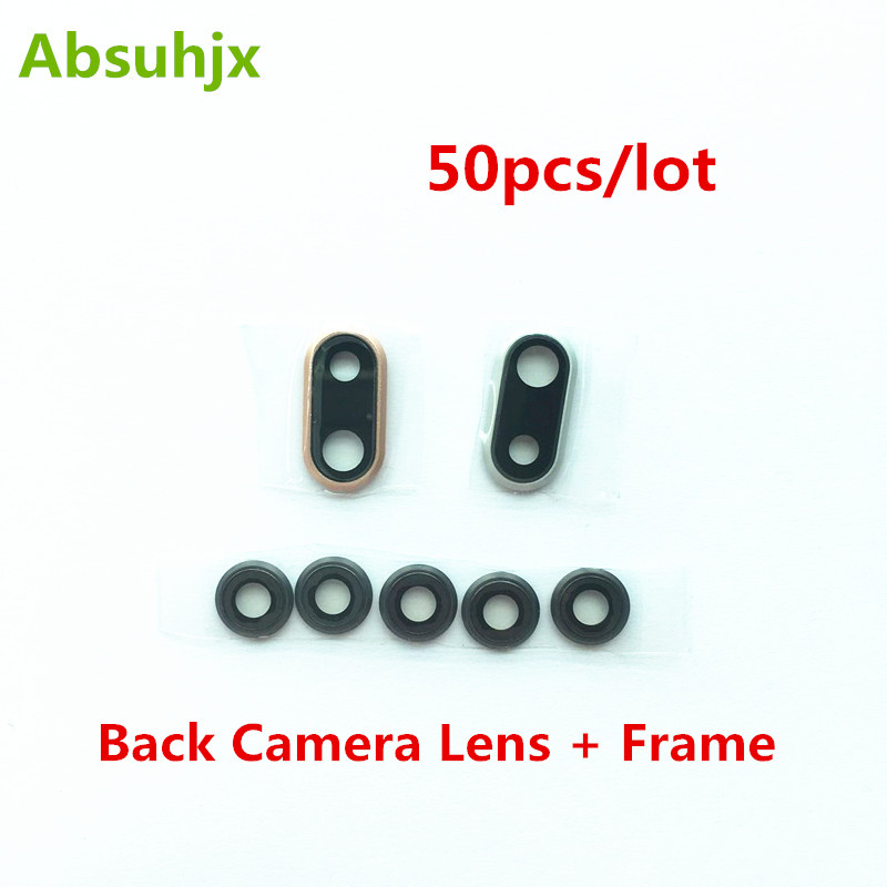 Reasonable Absuhjx 50pcs Back Camera Lens For Iphone 7 8 Plus X Xr Xs Max Rear Camera Cover Lens Frame With Glass Replacement Parts Relieving Rheumatism