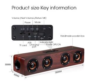 Image 4 - ワイヤレス Bluetooth スピーカー 12 ワットポータブルサブウーファ木ホームオーディオサポート TF FM 列スピーカー屋外 PC 電話
