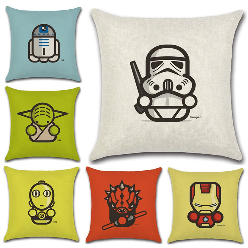 Cartoon wars style decorative cushion cover Sofa Throw Pillow Cover case Chair Car home living room decoration children gift