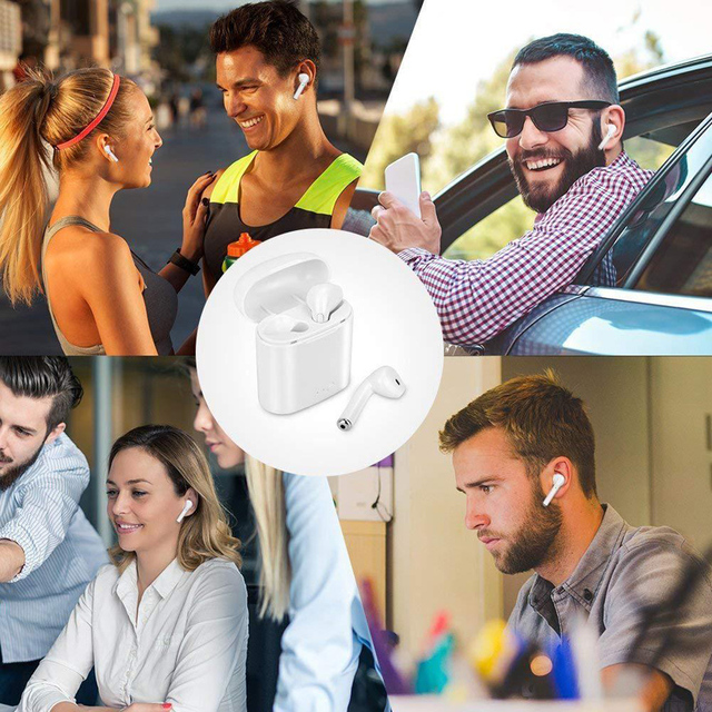 i7s TWS Mini True Wireless Bluetooth Sport Earphone Stereo Earbud Headset With Charging Box Mic For All Smart phone