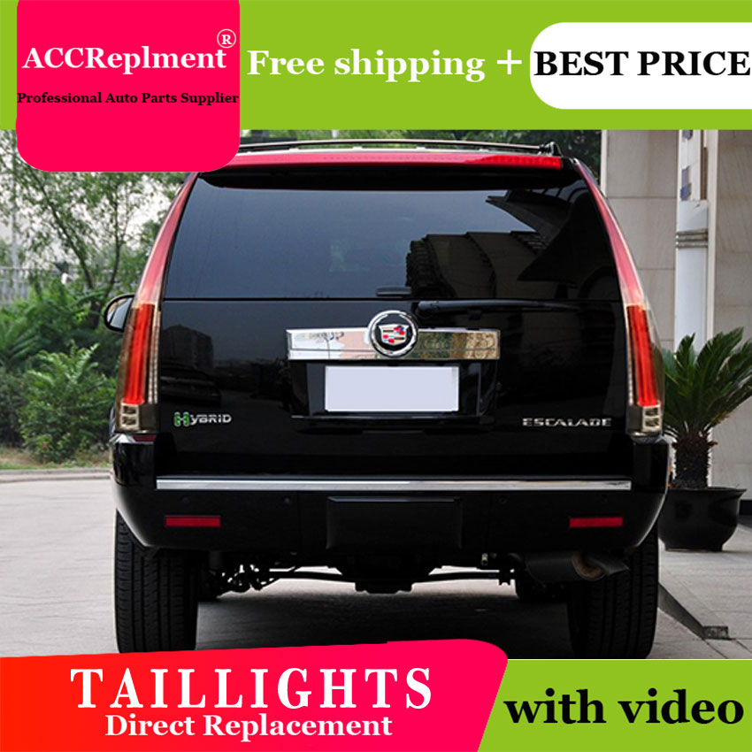 4PCS Car Styling For Cadillac ESCALADE Taillights 2007-2014 For ESCALADE LED Tail Lamp+Turn Signal+Brake+Reverse LED Light