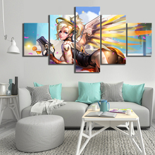 Overwatch game Modern Home Decor HD Print Wall Art Canvas For Living Painting 5 Piece Artwork