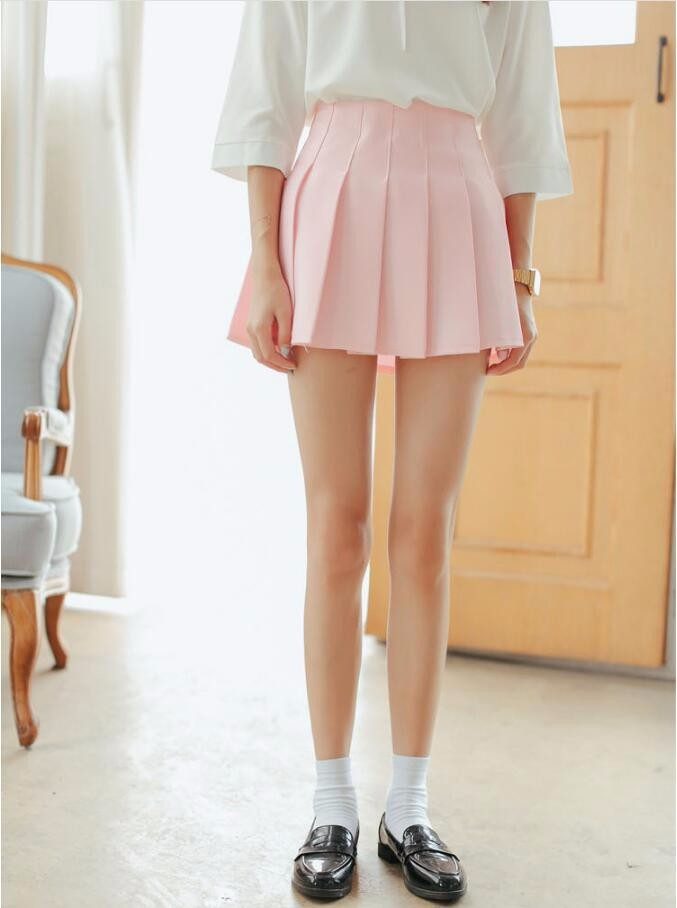 Elegant half pleated high waist mini skirt 6