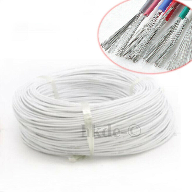 30awg White Soft Silicone Wire 50m Bending Cold-freeze High-termp Resistant