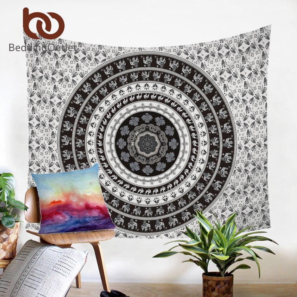 BeddingOutlet Vanitas Tapestry Indian Bohemia Floral Wall Hanging Carpet for Home Boho Polyester Bedspread 130cmx150cm 150x200cm