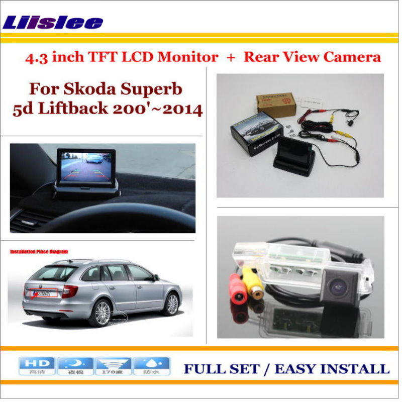 Liislee For Skoda Superb (B6, Type 3 T) 5d Liftback 200'~2014 - Rear Camera + 4.3